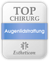 Estheticon Siegel Top Chirurg Augenlidstraffung