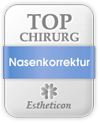 Estheticon Siegel Top Chirurg Nasenkorrektur