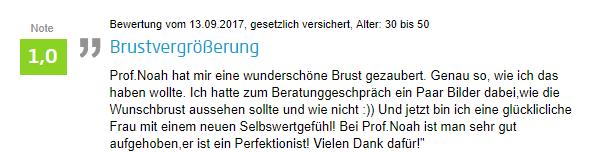 Erfahrung einer Patienten zur Brust-OP in Kassel